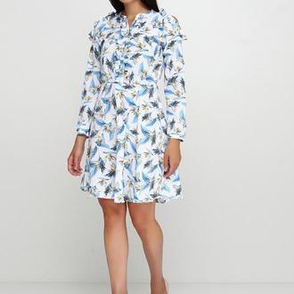 платье с оголенным плечом тропики