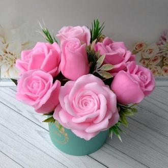 Сувенирное мыло: композиция из роз 7 роз