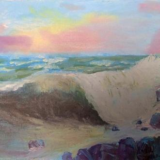 Картина масло море