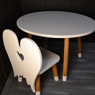 Детский стул Ангел, детская мебель, стульчик зайка, детский стульчик для рисования