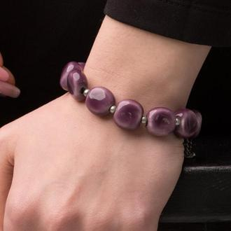 """Фиолетовый браслет из керамики """"Violetta"""""""