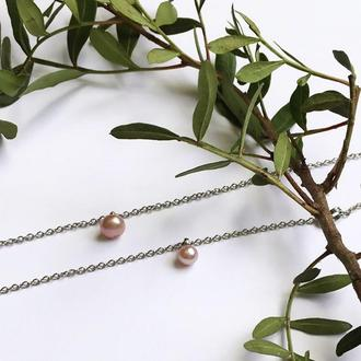 Перлина натуральна - жемчуг, оттенок на выбор - браслет, підвіска або кулон - подарунок