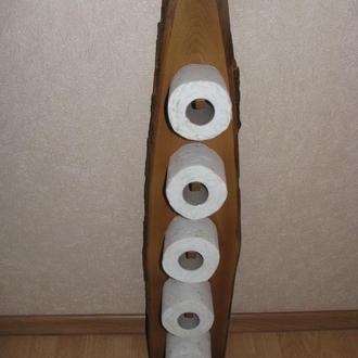 Деревянный держатель для туалетной бумаги