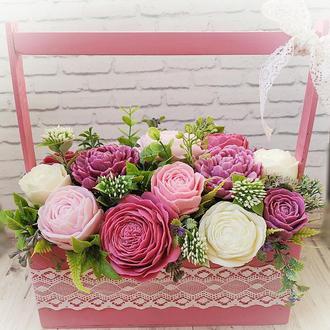 Букет цветов из ароматного мыла