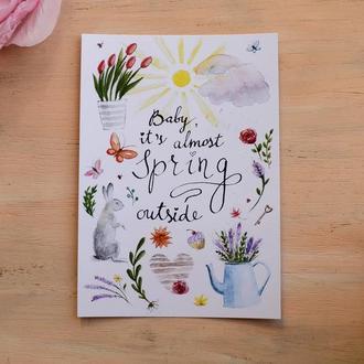 """Открытка """"Almost Spring"""""""