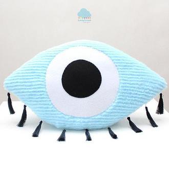 ГЛАЗ глаз мягкая интерьерная игрушка подушка в стиле бохо