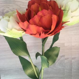 Пионовидные тюльпаны из фоамирана