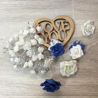 Весільна прикраса для волосся з фоамирана