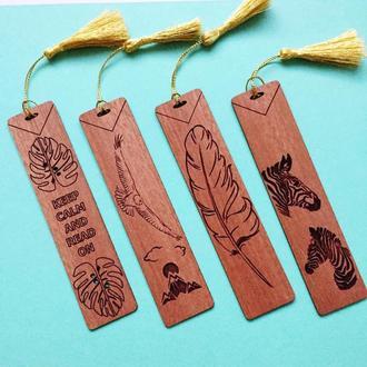 Закладка для книг, ежедневников, учебников из дерева.