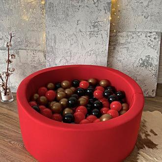 Красный детский сухой бассейн с шариками (арт.138132021)