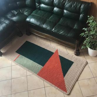 Ковер вязаный из трикотажной пряжи декор для дома коврик ковер дорожка тпряжа хлопковый ковер BARWA