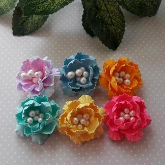 Цветы ручной работы из бумаги