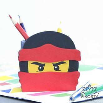 Карандашница Lego Ninjago Kai, органайзер для канцелярских принадлежностей  Кай из Лего Ниндзяго