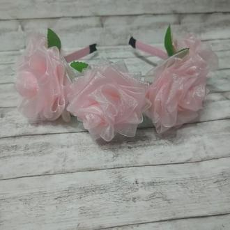 Ободки для волос розы