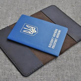 Качественная обложка для паспорта из натуральной кожи P01-450