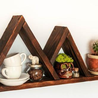 Деревянная полка горы, декор для дома