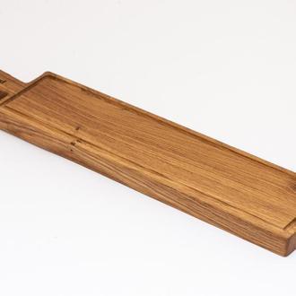 Доска из дуба с канавкой, прямоугольная, A-9030