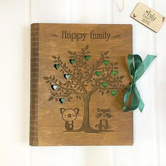 """Фотоальбом """"Happy Family"""" с калькой (листы 31х25 см)"""