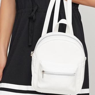Женский белый рюкзак, экокожа