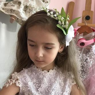Обруч цветок-ландыш,цветок-ландыш