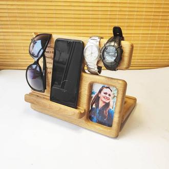 Подставка-органайзер для телефона Подарок мужу мужчине парню папе, на годовщину на день рождения