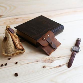 Кардхолдер из натуральной кожи Wild West коричневый
