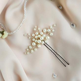 Украшение в прическу, шпилька на выпускной, свадьбу