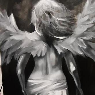 """Картина """"Ангел"""" масло 60*50"""