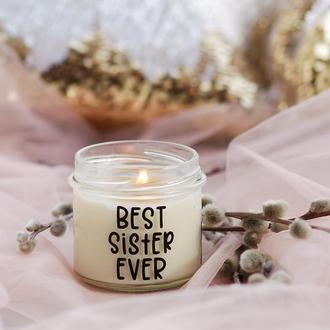 Соевая ароматическая свеча Best Sister Ever