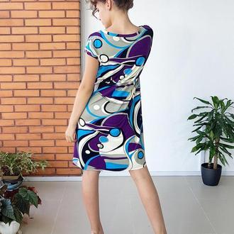 Дизайнерское трикотажное платье Абстракция-2