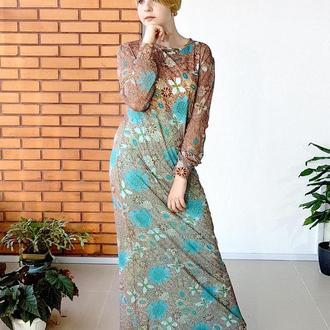 Дизайнерское трикотажное платье Градиент