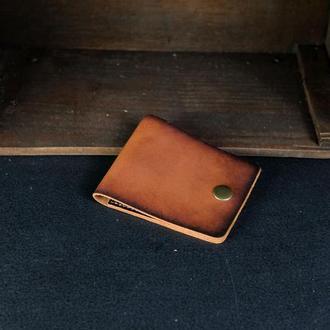 Кожаный кошелек Жорик, кожа итальянский краст, цвет Коричневый