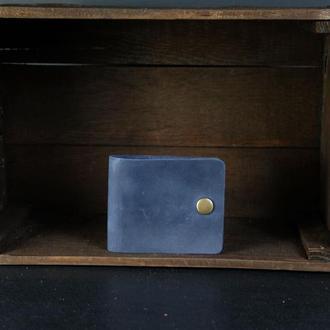 Кожаный кошелек Жорик. кожа Crazy Horse, цвет Синий