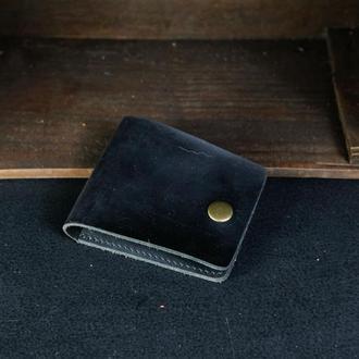 Кожаный кошелек Жорик, кожа Crazy Horse, цвет Черный