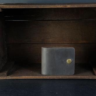 Кожаный кошелек Жорик, кожа Crazy Horse, цвет Шоколад