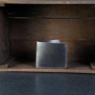 Кожаный кошелек Компакт, кожа итальянский краст, цвет Кофе