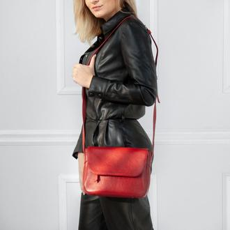 Crossbody Gloria red (артикул: w055.8)