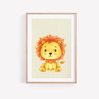 Львёнок для Детской, Изображение На Стену, Картинка в Детскую, Картинка для Ребёнка