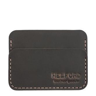 Картхолдер кожаный ручной работы темно-коричневый HELFORD Кроул brn (1134123434)