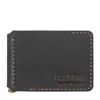 Зажим для купюр из кожи темно-коричневый HELFORD Милл brn (1133838211)