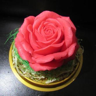 Роза в колбе сувенирное мыло подарок большая