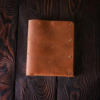 Обложка для паспорта из натуральной кожи Texas коричневая