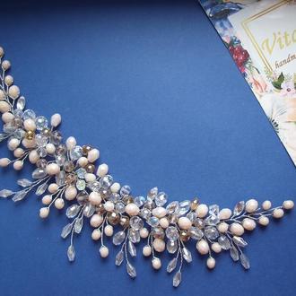Свадебные украшения для невесты,  свадебное украшение для волос, украшение для невесты