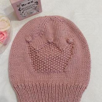 шапка вязана дитяча