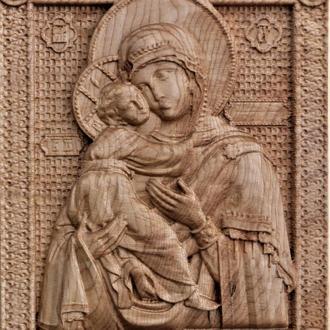Богородица Владимирская 240*305 мм.