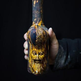 """Керамическая Бутылка """"Beardmen"""" Декор Арт Ваза Скульптура"""