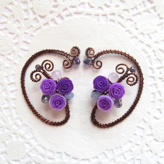 Каффы Фиолетовые розы
