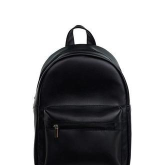 Женский черный рюкзак, экокожа
