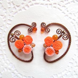 Каффы Оранжевые цветы