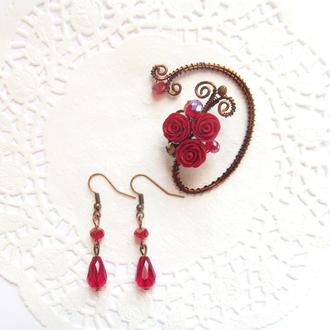 Каффы Красные розы